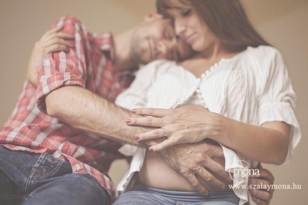 babavárás kismama fotózás